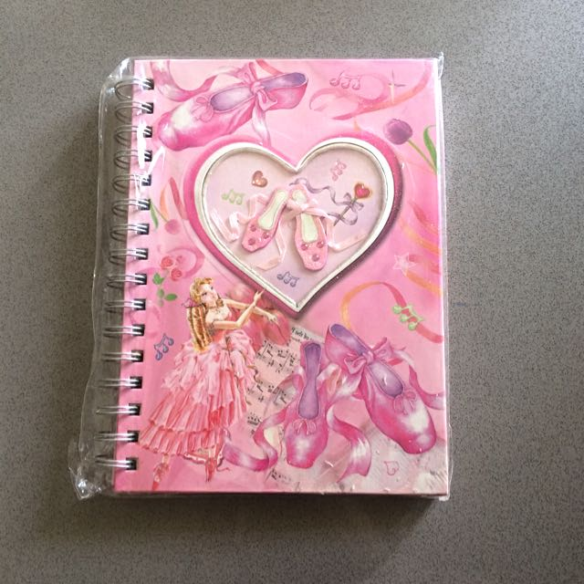 Girls Ballerina Notebook.