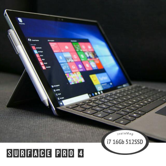 Highest Specs Surface Pro 4 Bundle (I7 Intel 16GB RAM 512Gb SSD) For University Students. Trade?