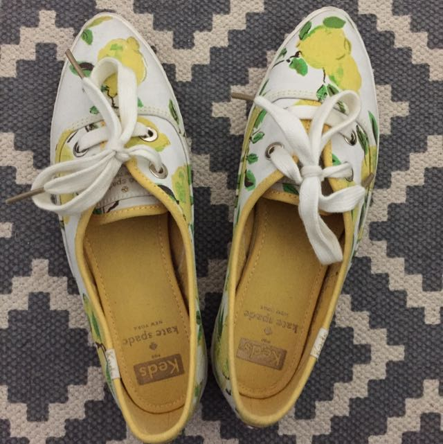 Keds Kate Spade Lemon - Size 5 1/2 (UK3)