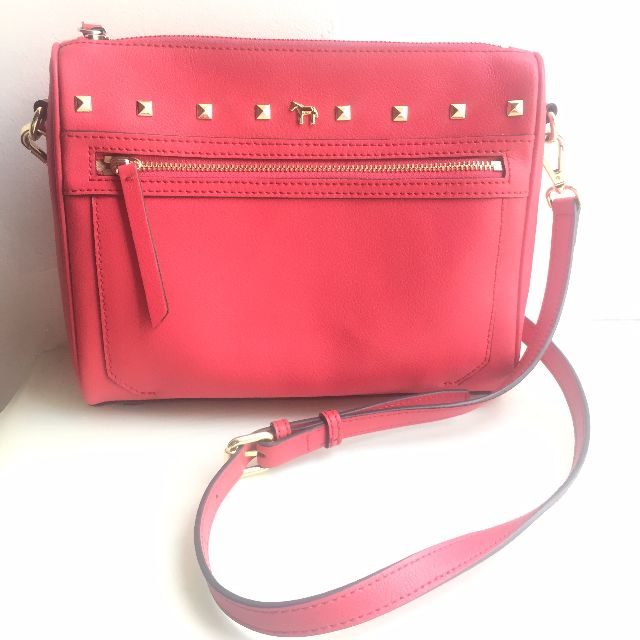 Lapalette Red Leather Sling Bag
