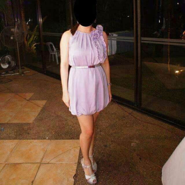 Lavender Satin cocktail dress