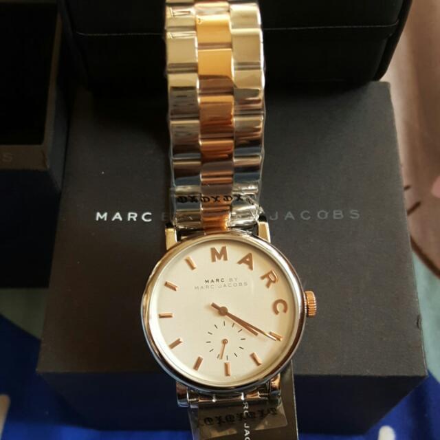 MARC JACOBS  全新的玫瑰金手錶