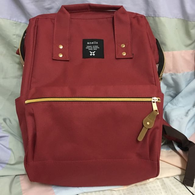 Maroon Red Anello Bag