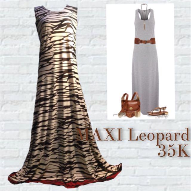 Maxi Leopard dress