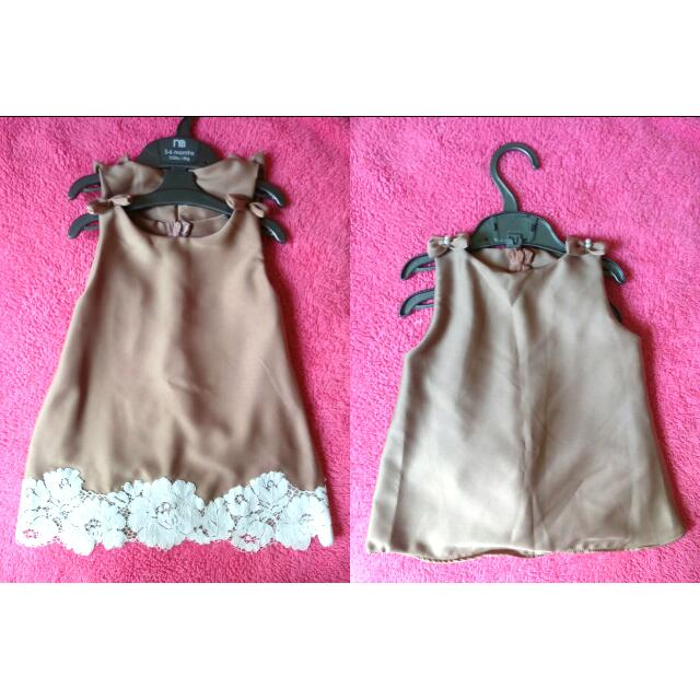 Mini Dress Bayi Dusty Pink Set