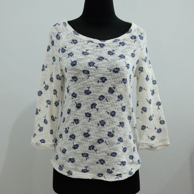 (REPRICE) New Look Floral Sweater