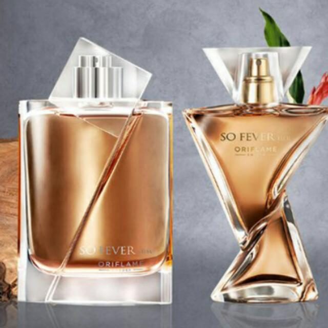 """Oriflame Couple parfume """"So Fever For Her N Him"""" Eau De Toilette Original"""