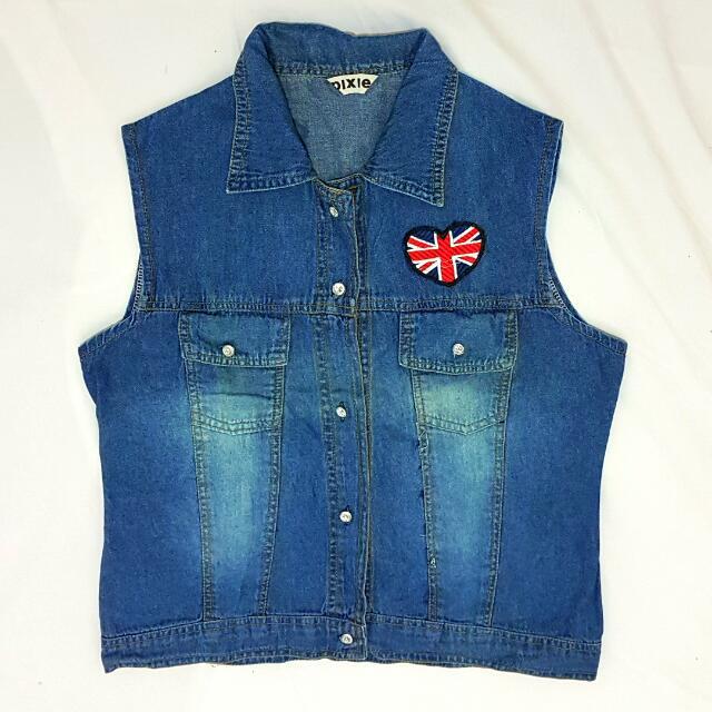Patchwork Jeans Vest