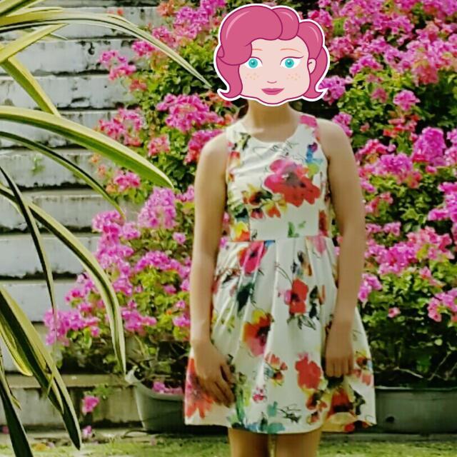 Peek-a-Boo Floral Summer Dress