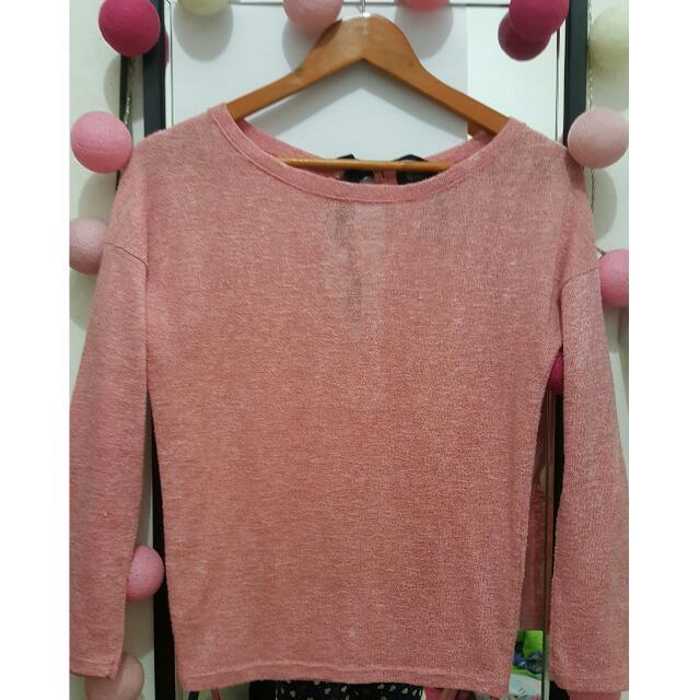 Pink Knitting Top | Bershka