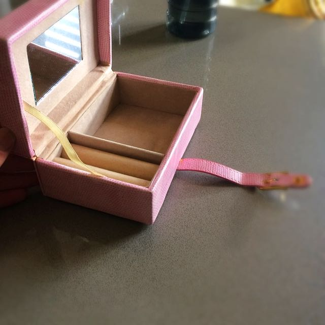 Pink Leather Jewellery Box