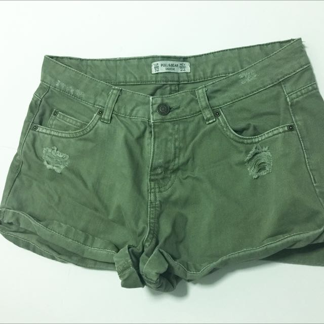 Pull & Bear Green Shorts