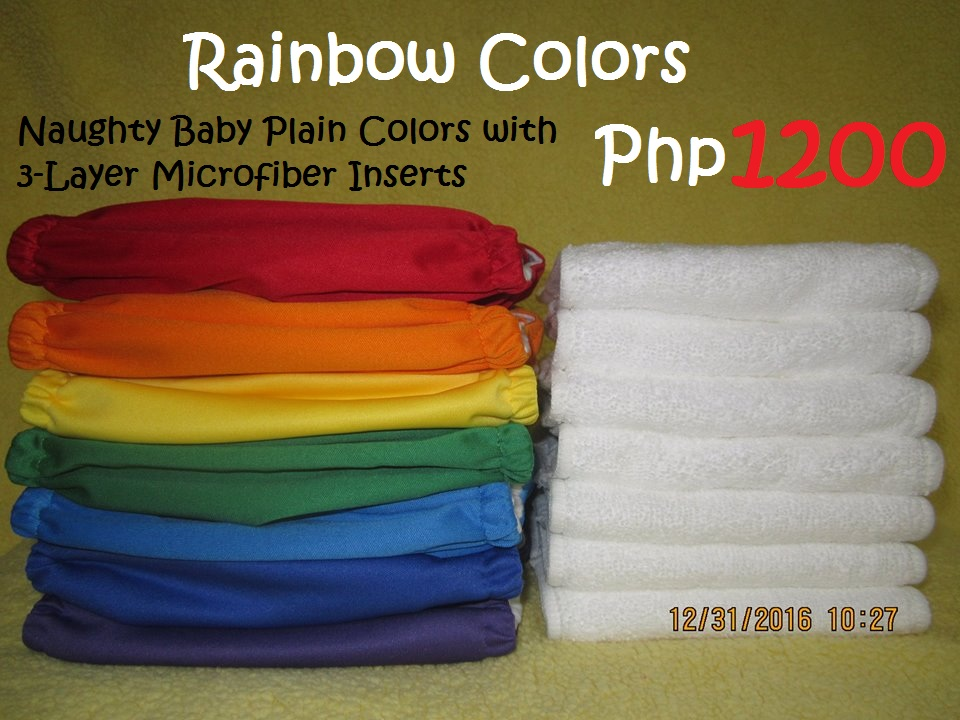Rainbow Colors Plain Cloth Diaper MF Package