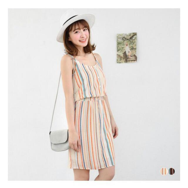 4b669e7f77 Rainbow Striped Cami Dress, Women's Fashion, Clothes, Dresses ...