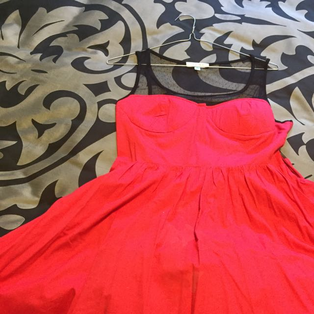 Red And Black Lace Dress Tempt Dress Size 12