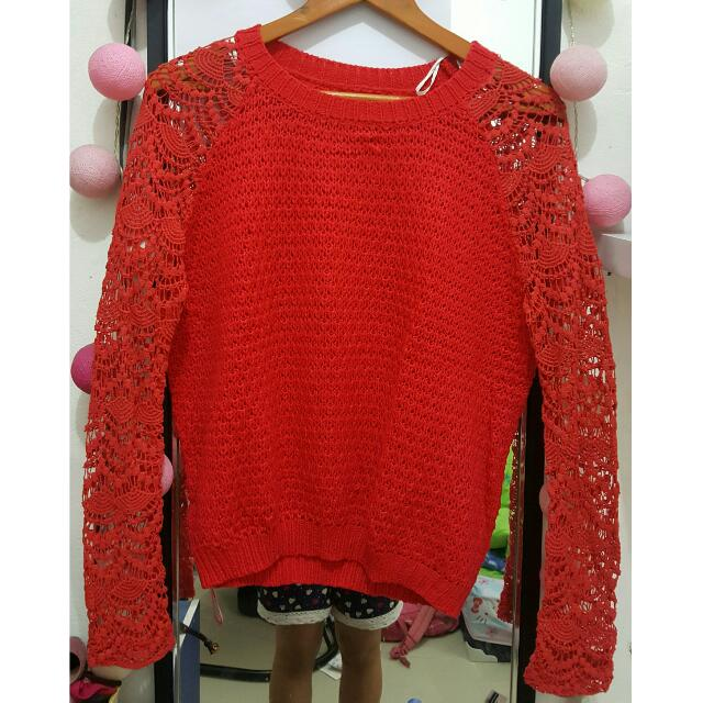 Red Knitting Top | Colorbox