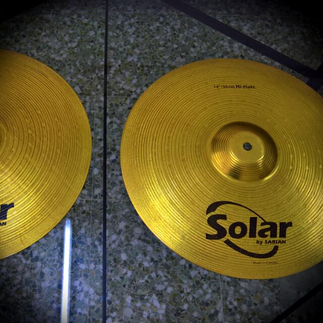 """Sabian Solar 14"""" Hi-hat Cymbals (Price Reduced) Buy it Now!"""