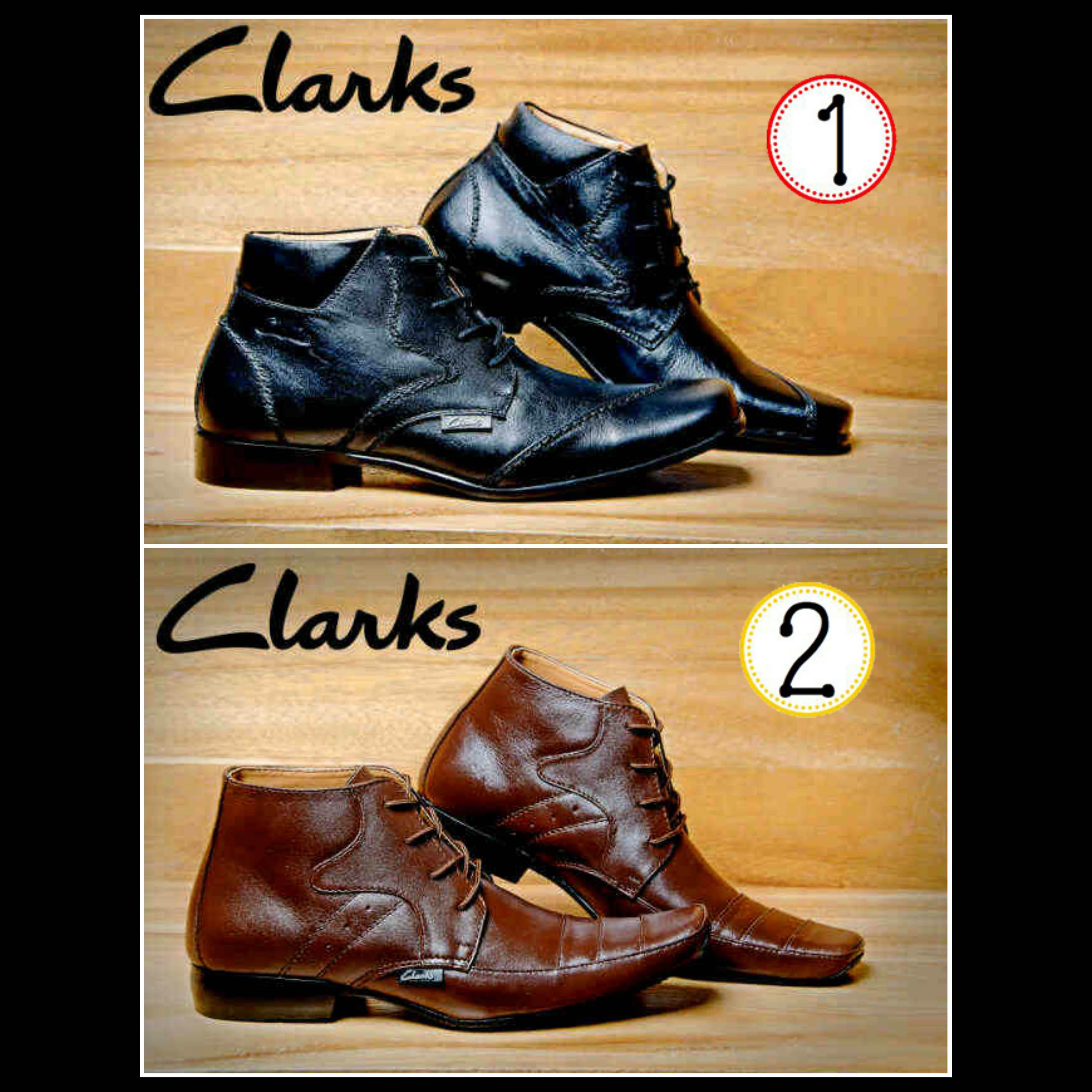 Sepatu Clarks Pantofel Boots Formal Gaya Casual Slop Pria Slip On ... c63a1b3ce3