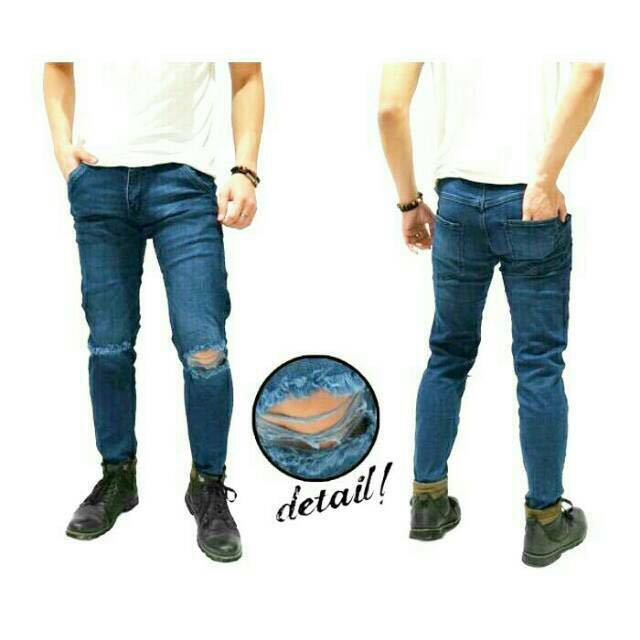 Skinny Hard Ripped Jeans