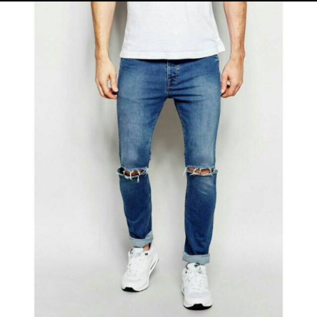 Skinny ripped Jeans Blue