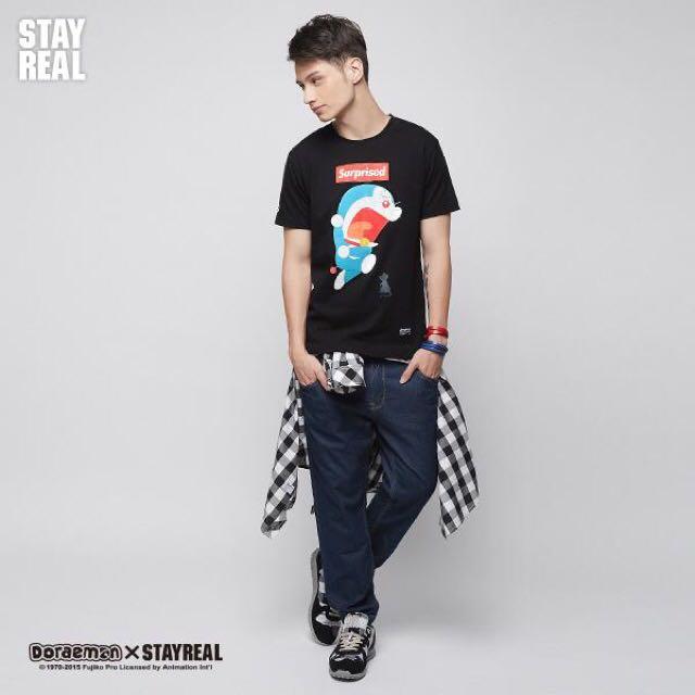 Stayreal 哆啦嚇嚇 潮流版 黑標M (原價1280/全新)
