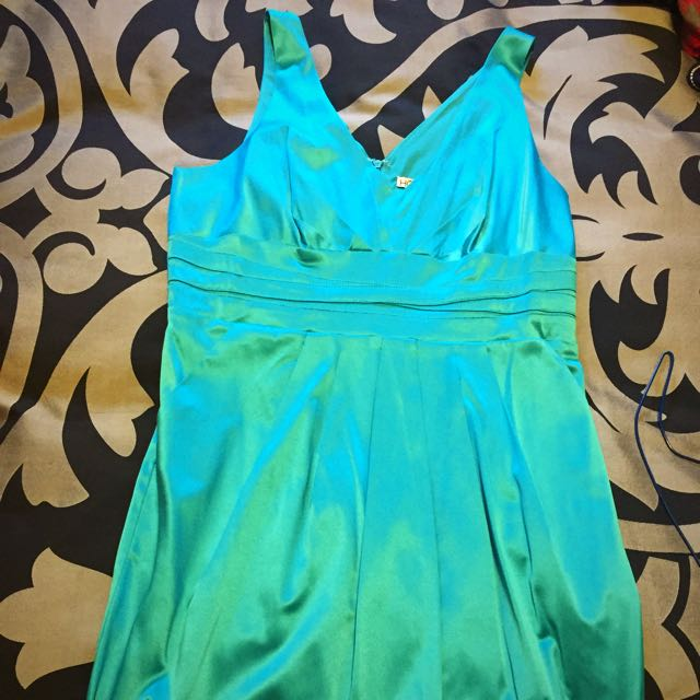 REDUCED!! Target Teal Turquoise Silk Dress Size 16