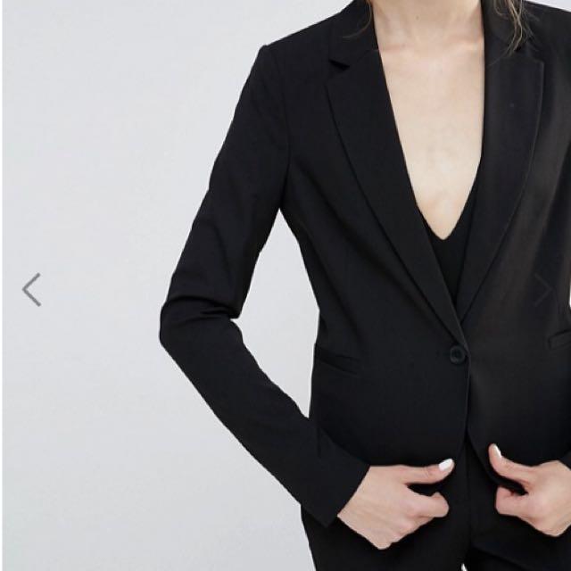 ASOS Vero Moda Tall Formal Black Blazer Size Small