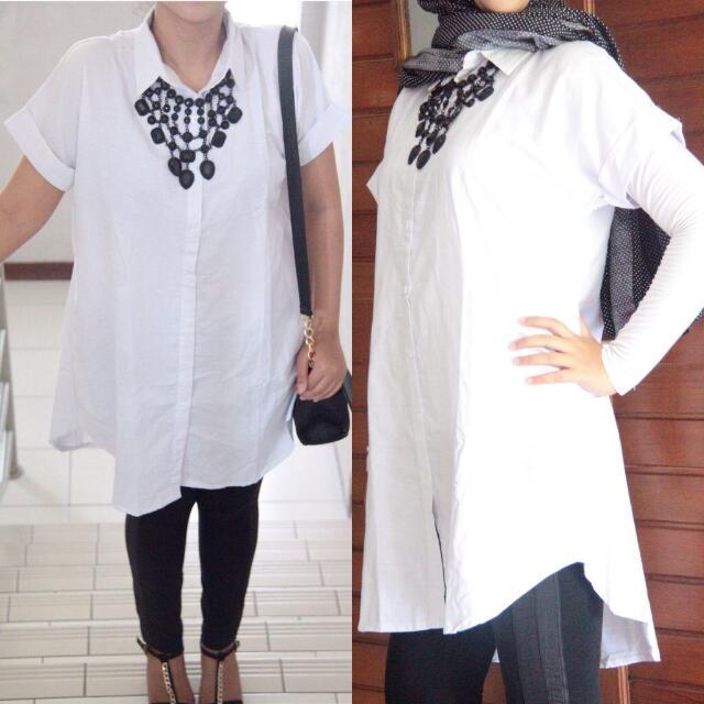 White Coco Long Shirt