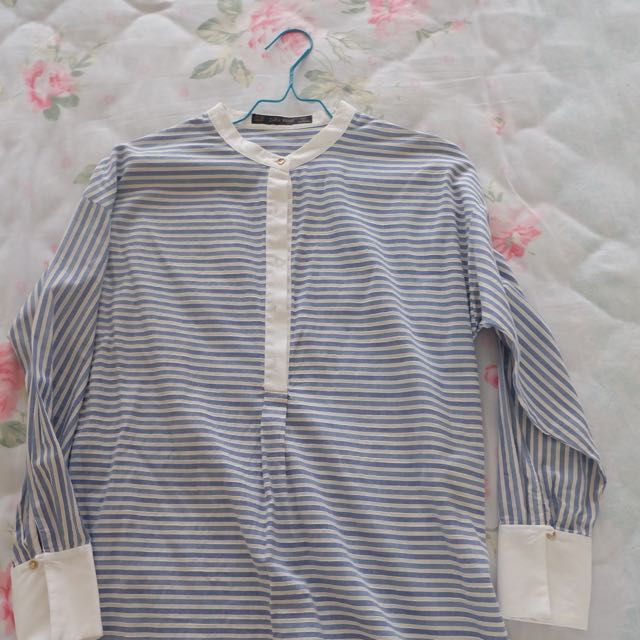 ZARA STRIPES LONG SHIRT