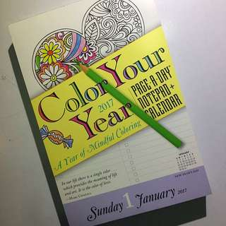 Color Your Year 2017 Page A Day Notepad & Calendar