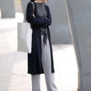 #nude 深藍色長版外套