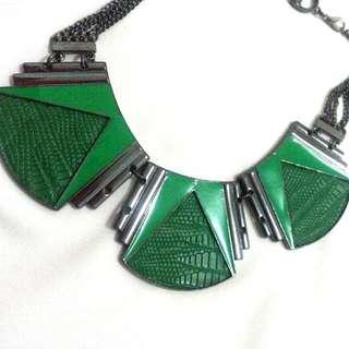 Green Snakeskin Necklace