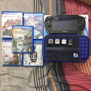 PS Vita 1000 w/ 8gb Memory + 5 Games