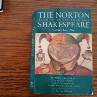 The Norton Shakespeare  Volume 2: later plays