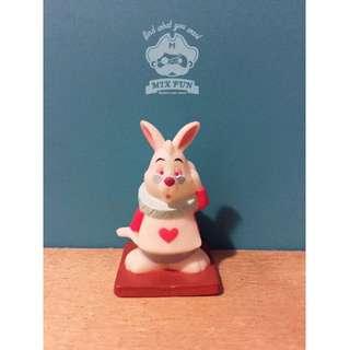 【絕版】TOMY 迪士尼 軟膠 公仔 愛麗絲夢遊仙境 時間兔