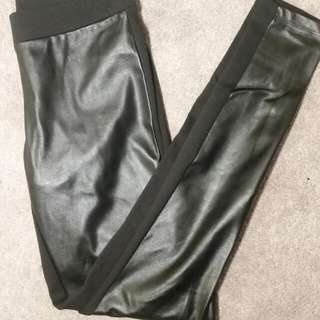 Faux Leather Leggings (Size XS)
