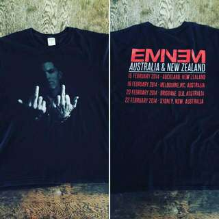 Eminem 2004 Nz Au Tour Shirt