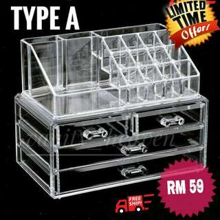 (Limited Time Promo) 4 Drawers Acrylic Cosmetics Organizer Set (TYPE A)