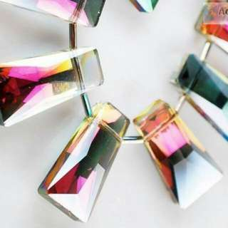 Rose large pendants crystal ab X1