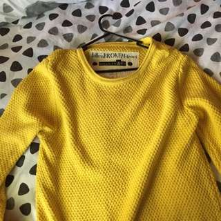 Fallen Broken Street Yellow Oversized Knit