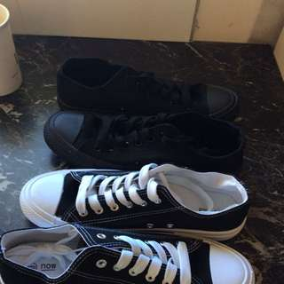 Black On Black Canvas Shoes . White And Black Canvas Shoes