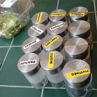 12 Spice Jars
