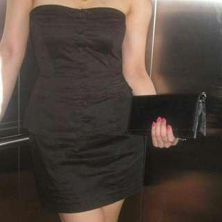 Little Black Tube Mini Party Gimik Dress