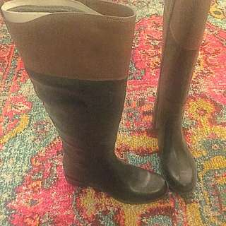 Knee High Nine West Riding Boots -- Wide Calf