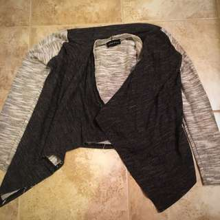 Two Tone Gray Cardigan, Seduction, Sirens Size Small