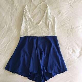 Blue & Lace Playsuit