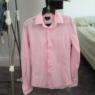 Zara Man Basic Pink Button Up