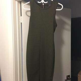 UO midi olive tight dress