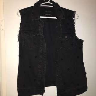 scotch and soda denim biker vest