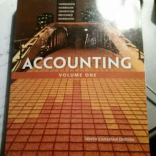 Accounting Volume 1 9th Canadian Edition